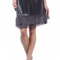 Skirt Extender Slip - Charcoal Gray