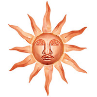 Good Directions 762P Polished Copper 36-Inch Sun Face Wall Decor