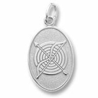 Archery Charm In Sterling Silver