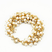 Cluster of Pearls Bracelet