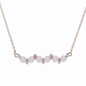 Gift Shiny Jewelry New Arrival Innovative Gifts Stylish Pearls Sweater Chain Necklace [10412395796]