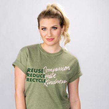 Reuse Reduce Recycle Eco Shirt