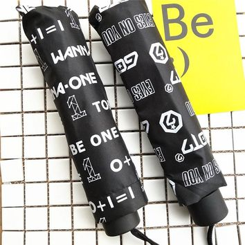 2018 Kpop Army BTS BT21 GOT7 WANNA ONE Ulzzang Korean Fashion Style Student Umbrella Clothes Women Tops School Kpop Bangtan Boys