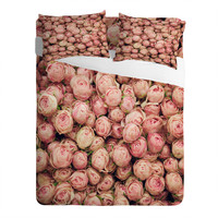 Catherine McDonald Flower Market 2 Bedding | DENY Designs - Romantic Pink Rose Bedding, paris