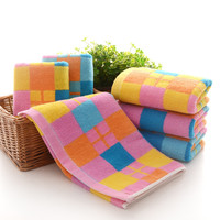 Hot Deal Bedroom On Sale Cotton England Style Plaid Soft Towel [6381765766]