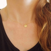 Tiny necklace coin, gold coin necklace, dainty coin necklace, small coin necklace, dainty gold necklace, layered necklace