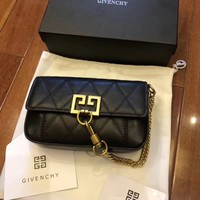 Givenchy Women Shopping Leather Metal Chain Crossbody Satchel Shoulder Bag