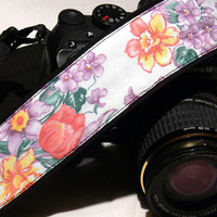 dSLR Camera Strap. Multicolor Camera Strap. Floral Camera Strap. Spring Camera Strap. Women accessories