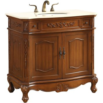 "Danville 36"" Single Bathroom Vanity Set, Brown"
