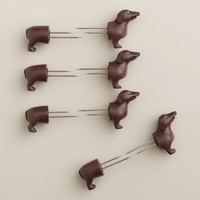 Dog Corn Holders, Set of 4