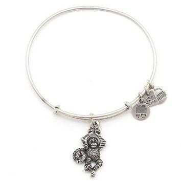 Alex and Ani Monkey Charm Bangle - Rafaelian Silver Finish