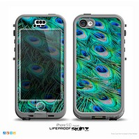 The Neon Multiple Peacock Skin for the iPhone 5c nüüd LifeProof Case