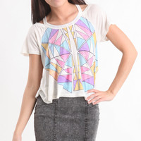 Dreamcatcher Cold Shoulder Tee