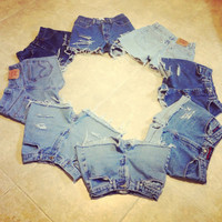 Send Me Your Jeans To Be Transformed Lace Tie Dye Rips Distress High Waisted Shorts