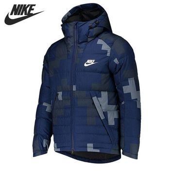 DCCKRE9 Original New Arrival 2017 NIKE DWN FILL JKT HD AOP S Men's Down coat Hiking Down Sportswear