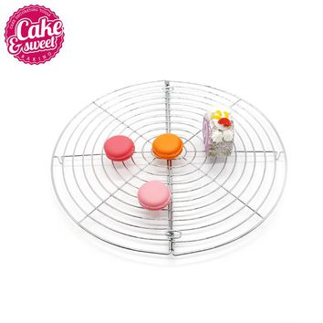 Metal Nonstick Cake Cooling Rack Net 33x32cm Cookies Biscuits Bread Muffins Stand Cooler Holder Kitchen Baking Tools