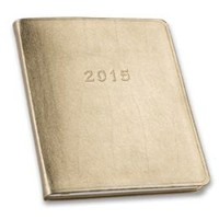 2015 Monthly Large Gold Planner