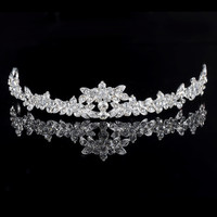 HOT Elegant Sparkly Lmitation Crystal Rhinestone Crown Tiara Wedding Prom Bride's Headband Wedding Headband
