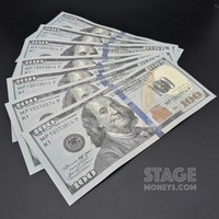 7x $100 Bills - $700 - New Style Prop Money