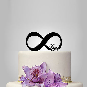 "funny Wedding Cake Topper ""love and infinity symbol"", Elegant Wedding Cake Topper, Unique Wedding Cake Topper"