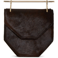 Brown Calf-Hair Amor Fati Shoulder Bag