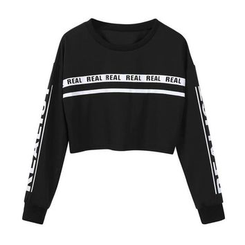 Realist Crop Top Sweater - Black