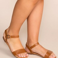 About Town Tan Sandals