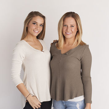 remy thermal top in mushroom and oatmeal