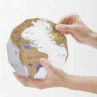 DIY Scratch-Off Globe- White One