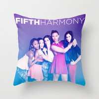 Fifth Harmony Throw Pillow by DesignPassion