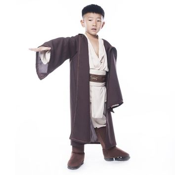Shanghai story Child Super Deluxe Jedi Warrior Costume Kids Star Wars Fantasia Halloween Carnival Party Fancy Dress 4pcs Outfit