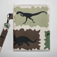 Kids Leappad Case - Green Dinosaur with Wrist Strap - Double Padded