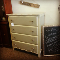 Two Tone Dresser, Chalk Painted Dresser, Painted Dresser, Hand Painted, Cream and Beige Dresser