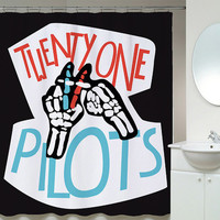 Twenty One Pilots Poster Contest Shower Curtains
