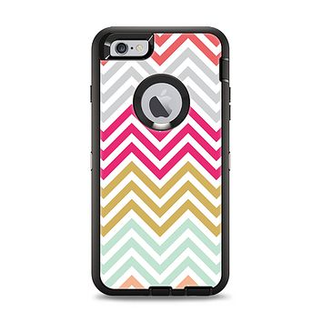 The Three-Bar Color Chevron Pattern Apple iPhone 6 Plus Otterbox Defender Case Skin Set