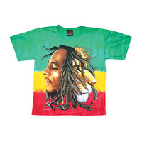 Bob Marley Men's  Profiles Dye Tie Dye T-shirt Multi