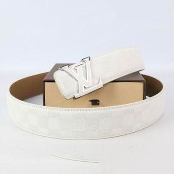 DCCK2 Perfect Louis Vuitton Woman Men Fashion Smooth Buckle Belt Leather Belt