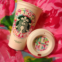 DECAL ONLY - Lilly Pulitzer Inspired Coffee Cup Decal