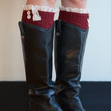Essential Lace Boot Cuffs - 8 Colors!