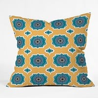 Elisabeth Fredriksson Sprinkle Flowers Throw Pillow