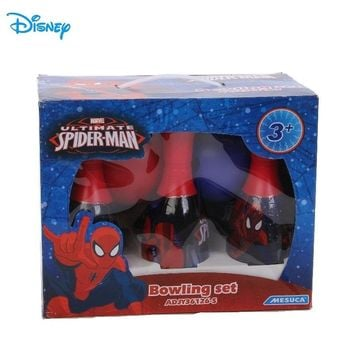 Disney Spider-man 6Pcs Children Bowling Set Outdoor Family Games Kids Toy Bowling Sets Bowling Sports  Mini Ball ADJY36126