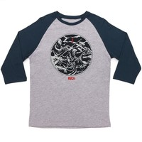 RVCA Armageddon Raglan T-Shirt - Athletic Heather/Midnight