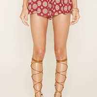 Medallion Print Shorts | Forever 21 - 2000178324