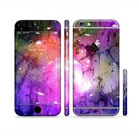 The Warped Neon Color-Splosion Sectioned Skin Series for the Apple iPhone 6