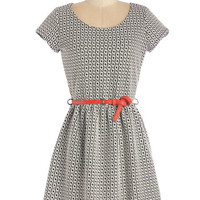ModCloth Short Length Short Sleeves A-line Strategist Strut Dress