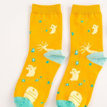 yellow halloween socks for women 2