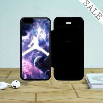 DCKL9 Michael Jordan In Galaxy Nebula iPhone 5 Flip Case