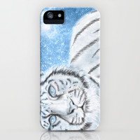 Ethereal White Tiger iPhone & iPod Case by Susaleena