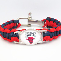 NBA Paracord Bracelet Bulls Team Sport Fan Basketball Friendship Bracelets