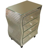 Commodious Cabinet And Storage Chests with 4 Drawers - Benzara
